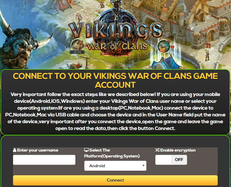 Gold hack Vikings War of Clans на